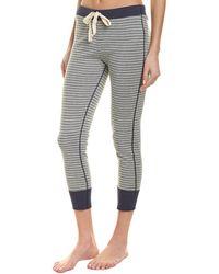 Three Dots Striped Pajama Pant - Gray