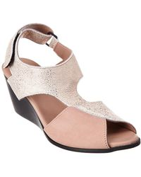 Arche Egwaly Leather Wedge Sandal - Pink