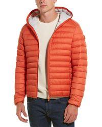 Save The Duck Basic Hooded Coat - Orange