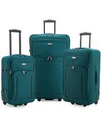 Elite Luggage Gondola 3pc Softside Rolling Luggage - Green