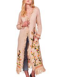 LoveShackFancy Valencia Wool-blend Duster - Pink