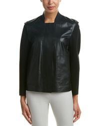 Lafayette 148 New York - Dane Leather-trim Jacket - Lyst