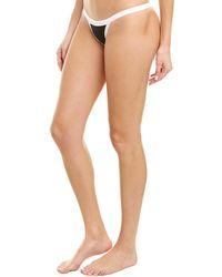 MILLY Cabana Amalfi Colorblocked Surfer Cheeky Bikini Bottom - Black