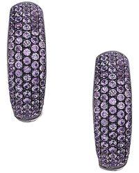 Socheec - Colour Stone Jewellery 18k & Silver 1.90 Ct. Tw. Gemstone Hoops - Lyst