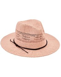 San Diego Hat Company Paper Woven Fedora Pbf7337 - Pink