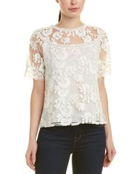 Laundry by Shelli Segal - Embroidered Floral Lace Top - Lyst