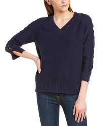 Forte Cable Sleeve Sweater - Blue