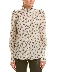 Isabel Marant Floral Silk Top - White