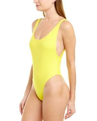 MILLY Cabana Deep Side Scoop One-piece - Yellow