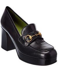 Gucci Leather Platform Loafer - Black