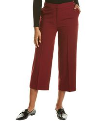 Chinti & Parker Cropped Wool-blend Trouser - Pink