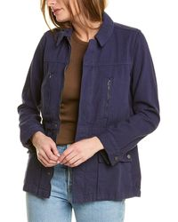 Lucky Brand Laurel Utility Jacket - Blue