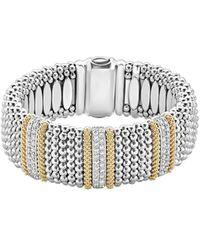 Lagos Caviar Lux 18k & Silver 2.18 Ct. Tw. Diamond Bracelet - Metallic