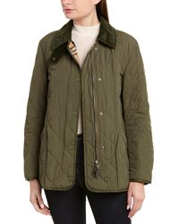 Burberry Diamond Quilted Thermoregulated Barn Jacket - Green