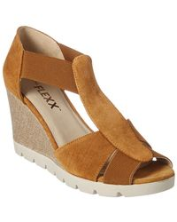 The Flexx - The Lotto Suede Wedge Sandal - Lyst