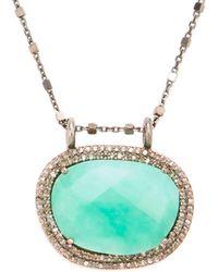 Adornia - Fine Silver Chrysoprase Necklace - Lyst