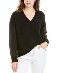 Magaschoni Contrast Cashmere & Silk Jumper - Black
