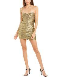 For Love & Lemons For Love & Lemons Juliette Brocade Mini Dress - Metallic