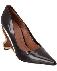 Marni Wooden Leather Pump - Black