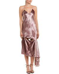MILLY - Velour Silk-trim Gown - Lyst