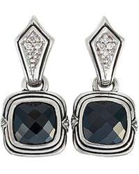 Scott Kay - Silver 0.10 Ct. Tw. Diamond & Onyx Earrings - Lyst