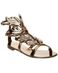 Giuseppe Zanotti - Winged Leather Sandal - Lyst