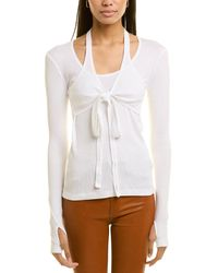 Helmut Lang Wrapped Top - White