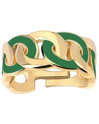 Gabi Rielle 14k Vermeil Enamel Adjustable Dream Weaver Ring - Green