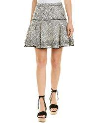 10 Crosby Derek Lam Flounce Silk-blend Mini Skirt - Black