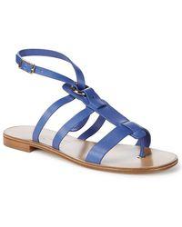 Ferragamo - Fiamma Strappy Leather Sandal - Lyst