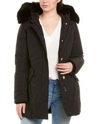 Woolrich Hooded Down Coat - Black