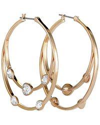 Swarovski Crystal Rose Gold Plated Earrings - Metallic