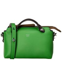 Fendi By The Way Mini Leather Shoulder Bag - Green
