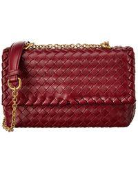 Bottega Veneta Olimpia Baby Intrecciato Leather Shoulder Bag - Multicolour