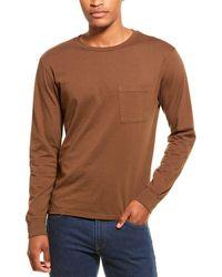 Monrow Relaxed Crewneck T-shirt - Brown