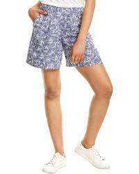 Joules Coretta Linen-blend Short - Blue
