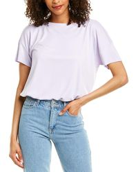 Eileen Fisher Bateau Neck Top - White