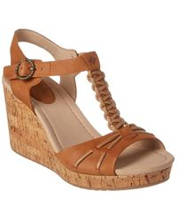 Sperry Top-Sider Dawn Sky Leather Wedge Sandal - Brown