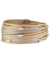 Alor - Classique 18k & Stainless Steel 0.18 Ct. Tw. Diamond Bangle - Lyst