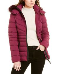 Mackage Patsy Leather-trim Down Jacket - Red