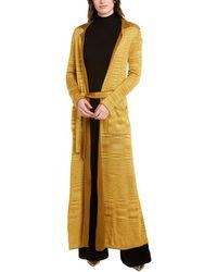 Missoni Longline Cashmere & Silk-blend Cardigan - Yellow