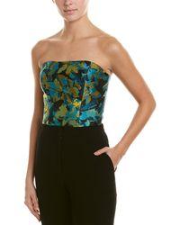 Monique Lhuillier Silk-lined Crop Top - Green