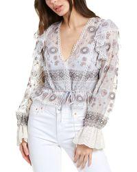 Alexis Dagmara Linen Top - White