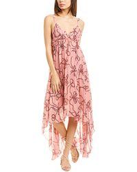 Pinko Argimonio Maxi Dress - Pink