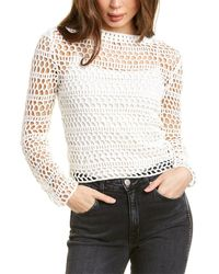 Theory Crochet Top - White