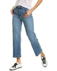 Joe's Jeans High-rise Wide Leg Calvados Crop Jean - Blue