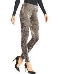 Hue Crushed Velvet Leggings - Gray