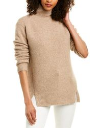 Vince Double Slit Cashmere Jumper - Natural
