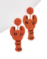 Kenneth Jay Lane Resin Drop Earrings - Orange