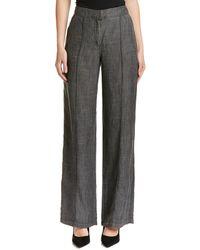 Trina Turk Arabica Linen-blend Pant - Grey